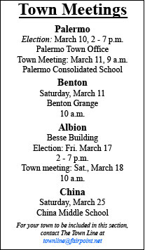 TOWN MEETINGS SCHEDULED