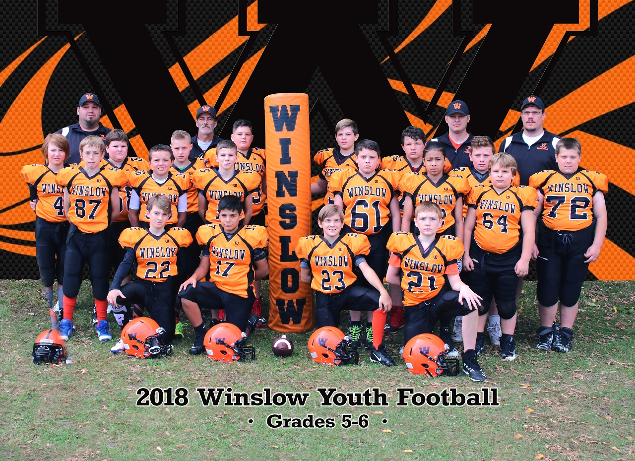 Members Of The Winslow Youth Football Grades 5 6 Team Are Front Row From Left To Right Izaiah C Tucker P Lucas S Elijah O Second Row Cameron W