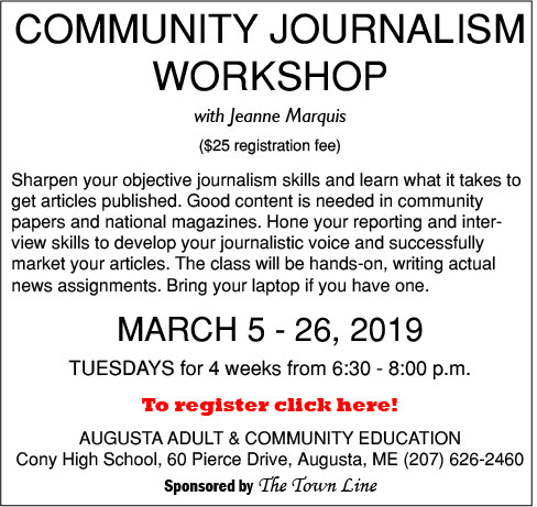 Community Journalism Workshop, sponsored by The Town Line