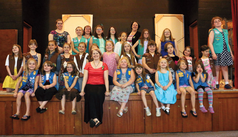 Girl Scouts of Troop #1557, in Waterville