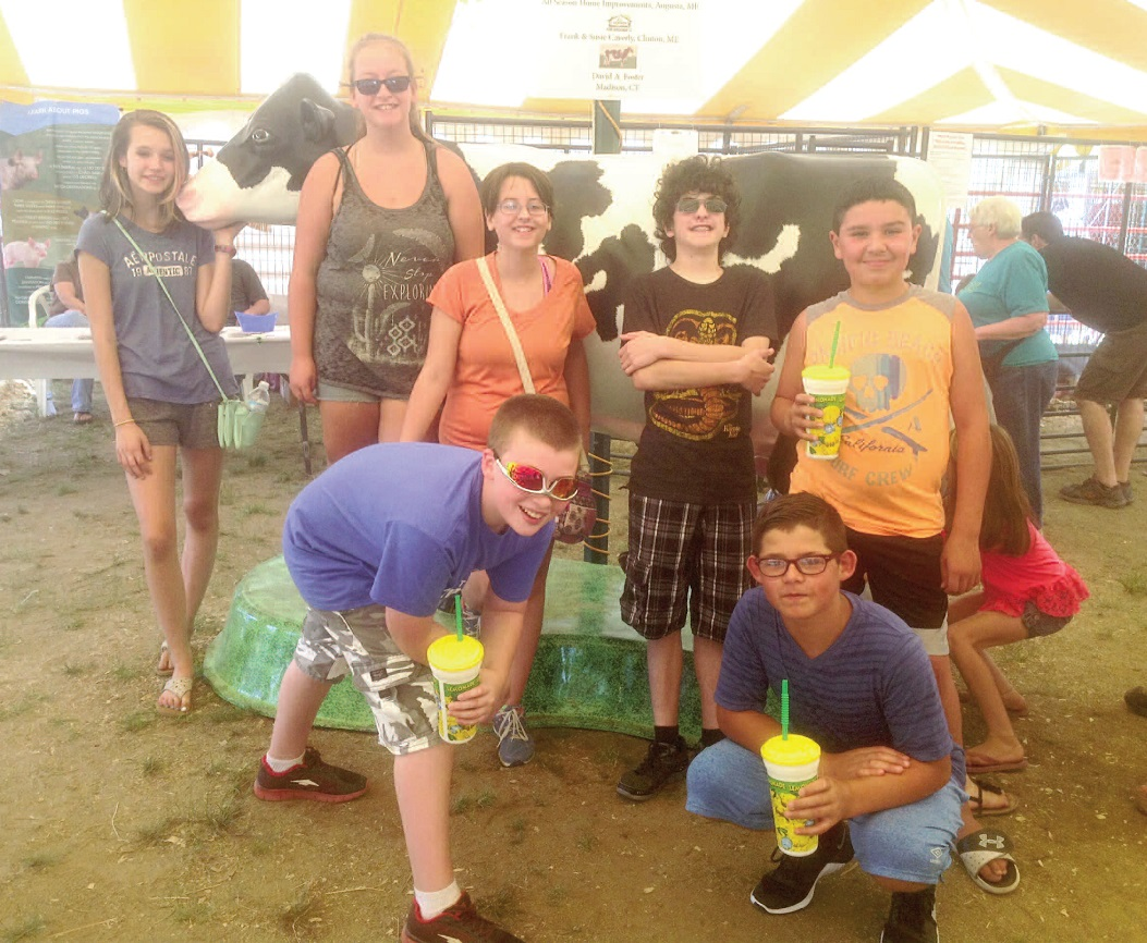 Right photo, the students attended the Windsor Fair on the first day to learn more about the fair's history, the workings of being a blacksmith, early traditional cultures, along with local agricultural events and opportunities.